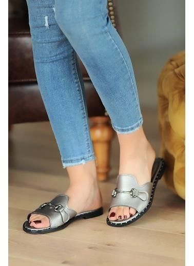 Pembe Potin A100-20 Kadın Sandalet A100-20 Gümüş